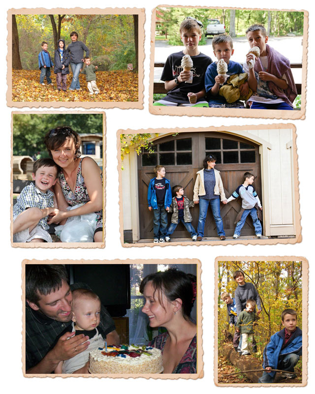 Mom collage 2 - my boys and me