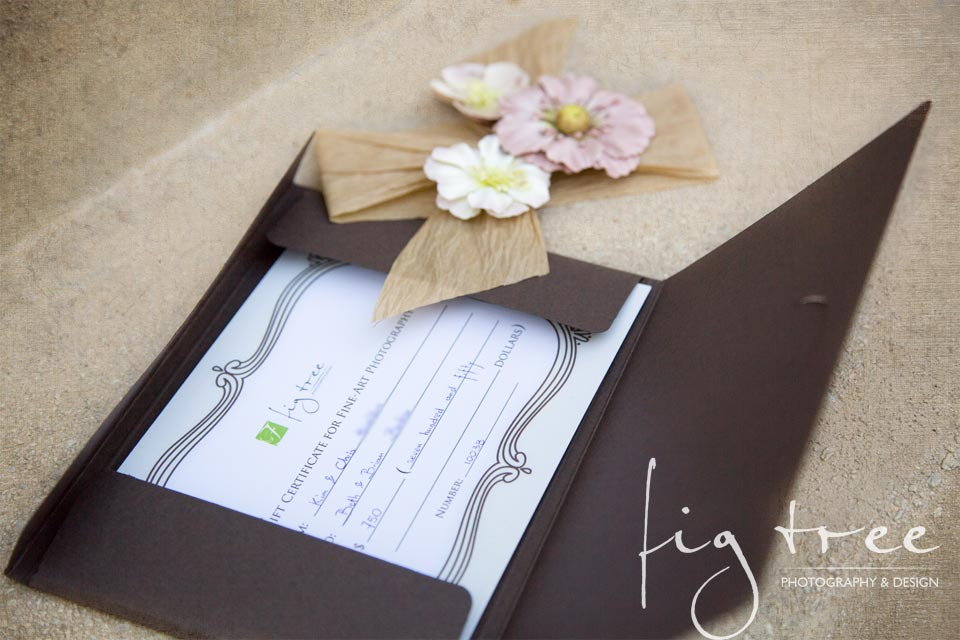 Gift certificate photography
